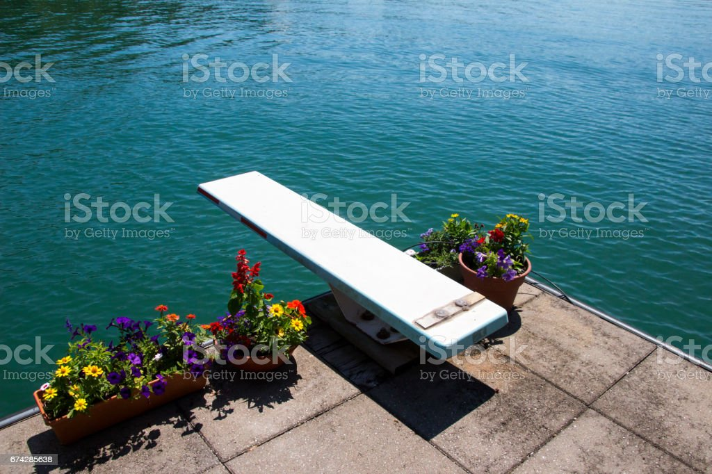 Lake Diving Board stock photo