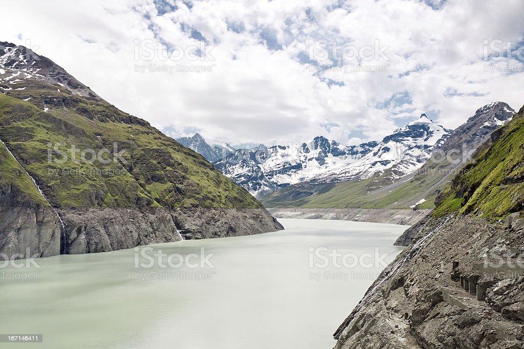 Lake Dix. Dam Grand Dixence. Switzerland royalty-free stock photo