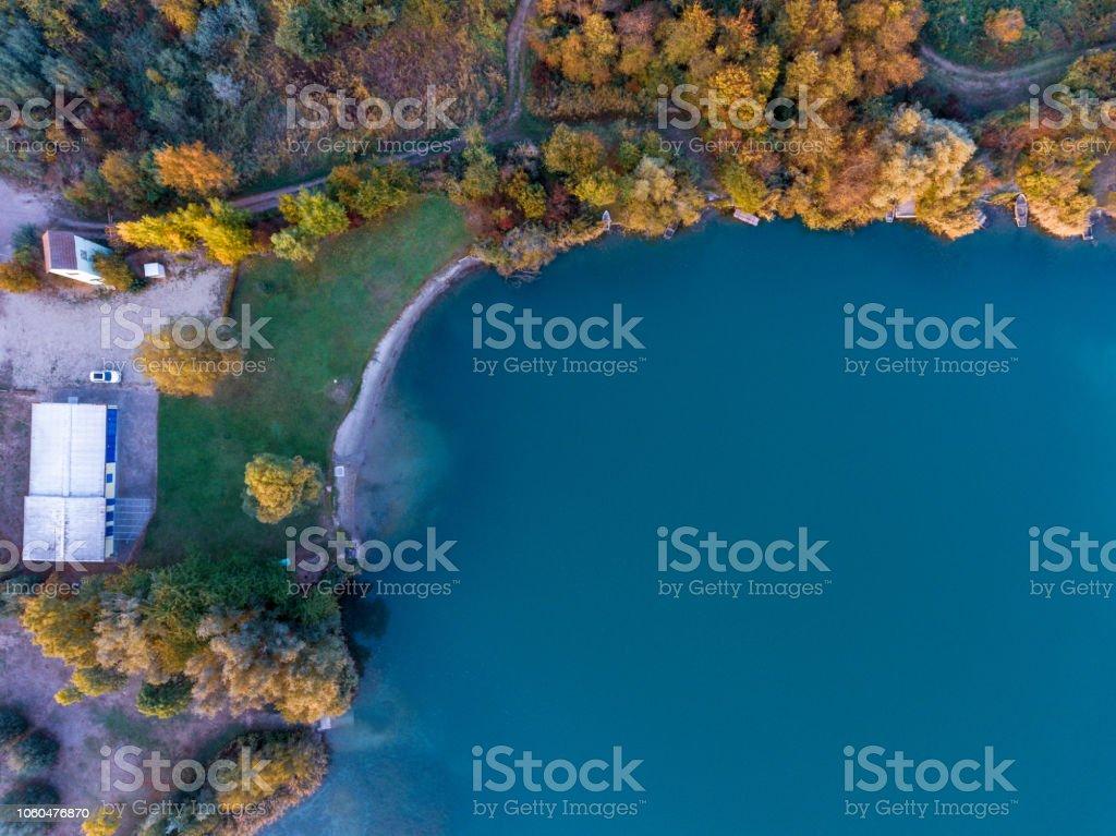 Blick auf den See-Drohne – Foto