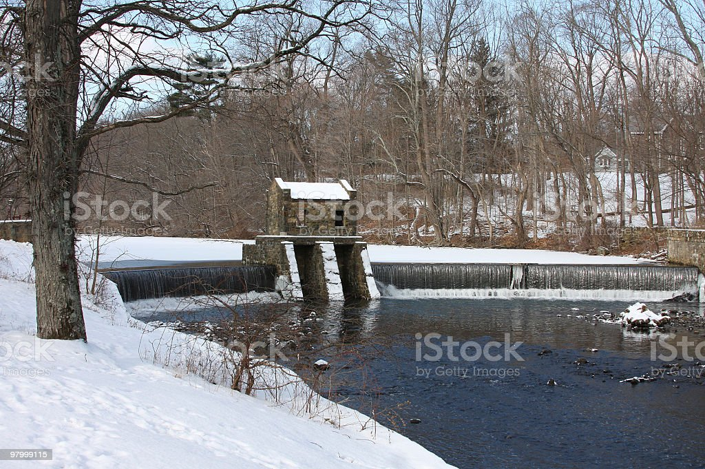 lake during the winter royalty-free stock photo