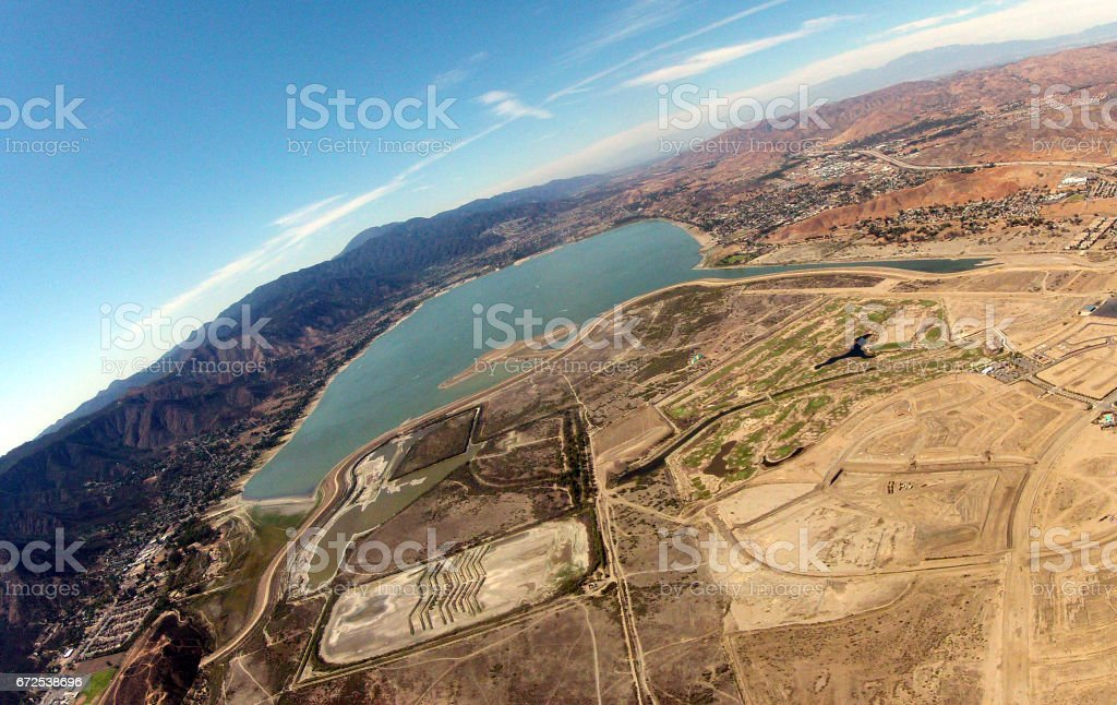 Lake Elsinore From Above stock photo