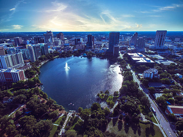 lake eola in orlando florida - orlando florida photos stock photos and pictures