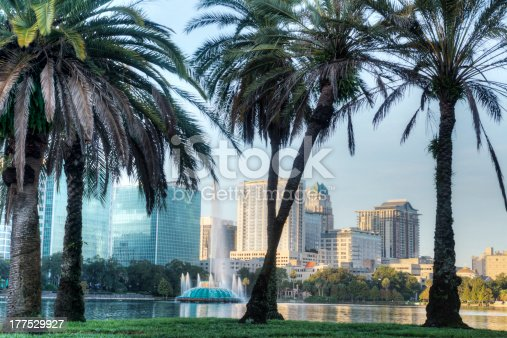 Lake Eola Park in the Early Morning, Orlando, Florida