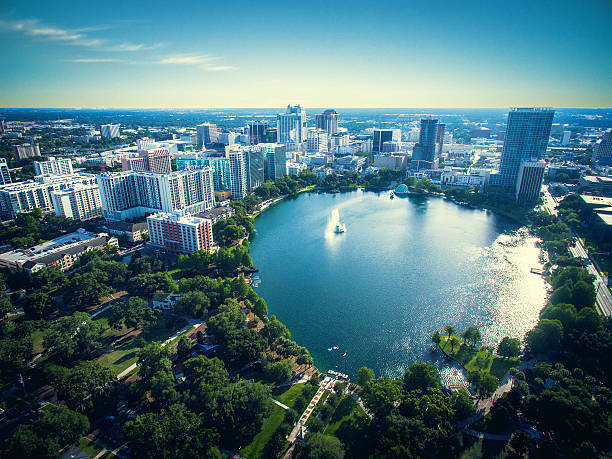 lake eola park - financial district stock pictures, royalty-free photos & images