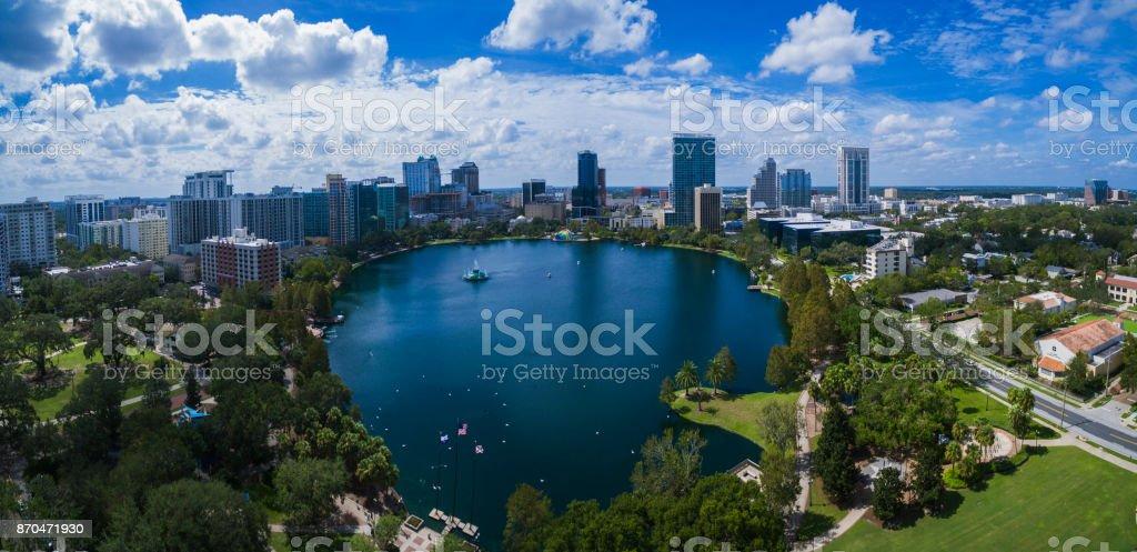 Lake Eola Park stock photo