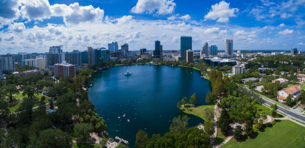 lake eola park - orlando florida photos stock photos and pictures