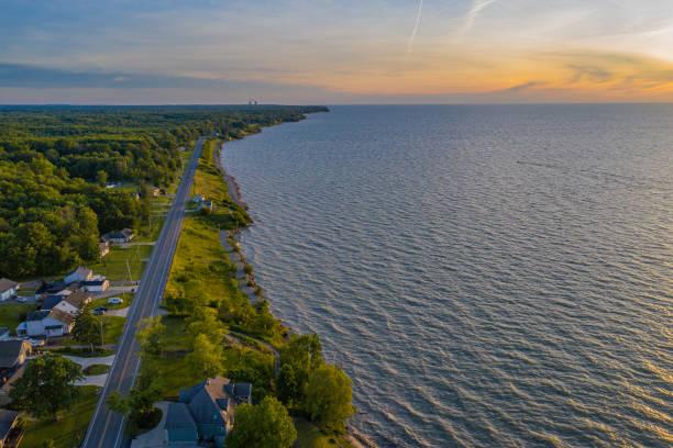 Lake Erie Coastline, Newph's Landing Ohio stock photo