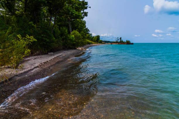 Lake Erie Coastline, Rube's Landing Ohio stock photo