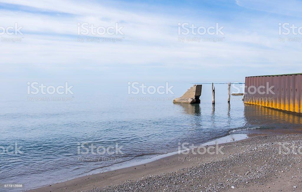 Lake Erie North Shore Canada stock photo