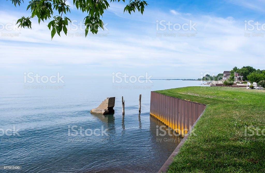 Lake Erie North Shore stock photo
