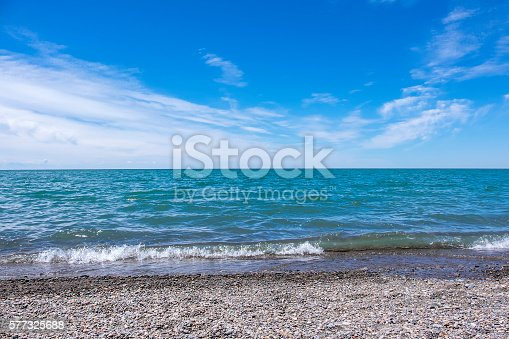 Looking at Lake Erie from a beach