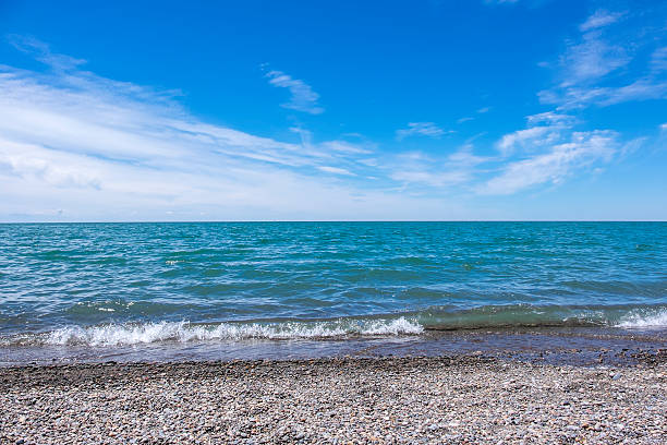 lake erie north shore - eriesee stock-fotos und bilder