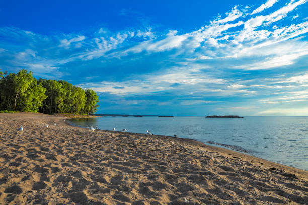 Lake Erie Shore stock photo