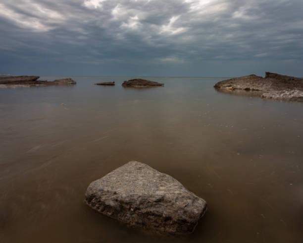 Lake Erie waters, Rubes Landing, Ohio stock photo