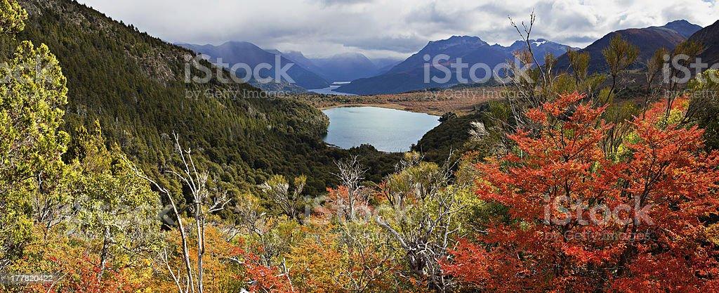 Lake Estefan, national park Nahuel Huapi, Argentina stock photo
