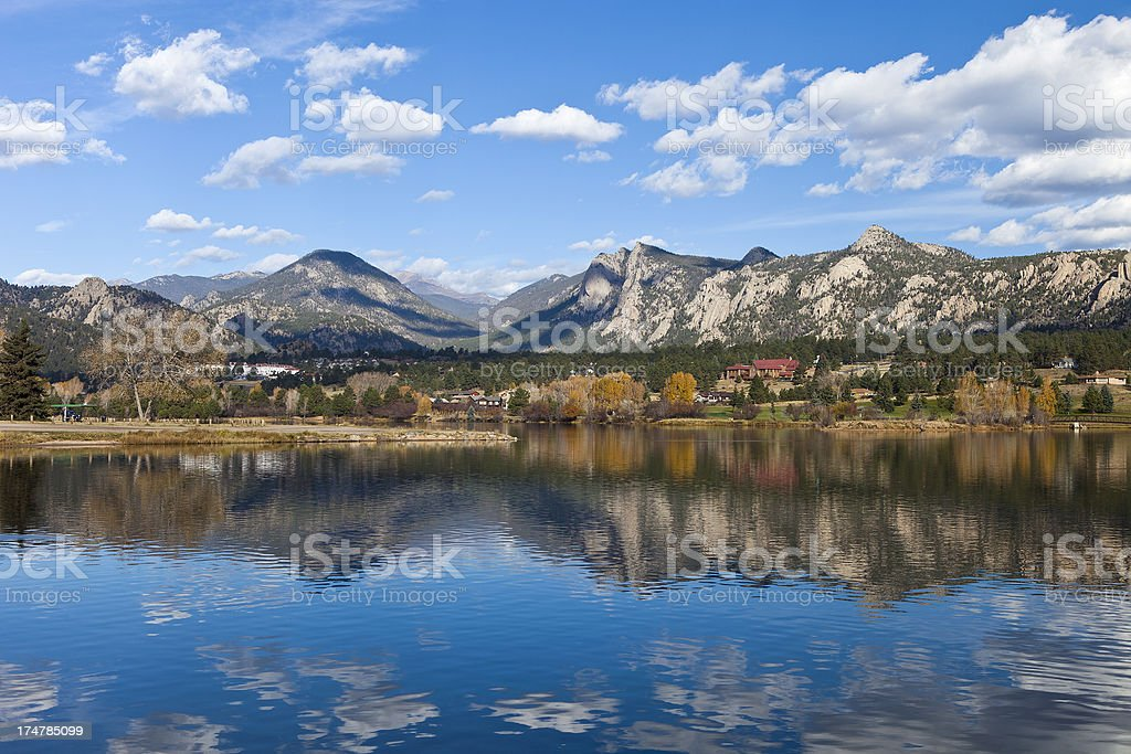 Lake Estes In Colorado stock photo