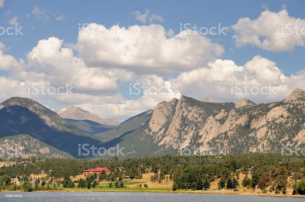 Lake Estes, Rocky Mountains stock photo