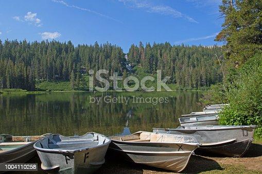 row boats at Lake Marie, CA