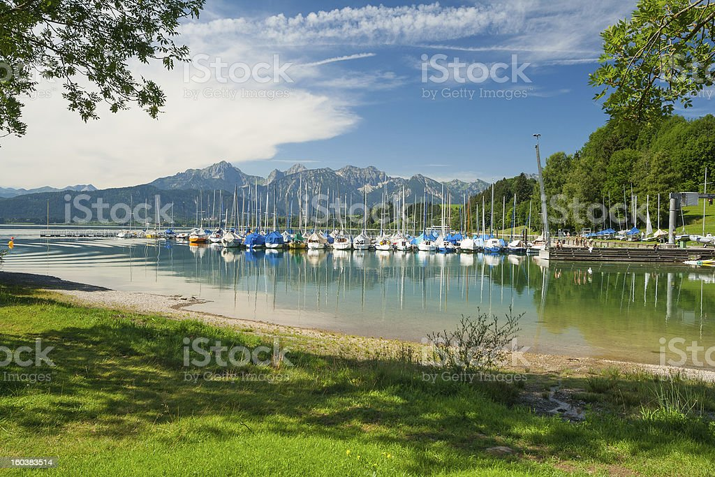 Lake Forggensee royalty-free stock photo