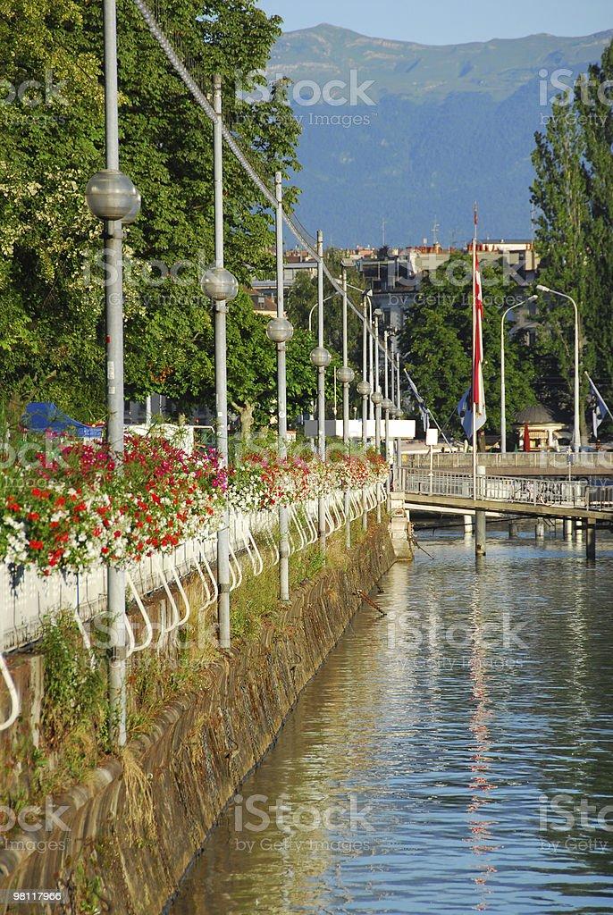 Lake Front of Geneva royalty-free stock photo