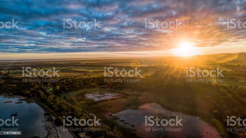Lake Fyans - Royalty-free Aerial View Stock Photo