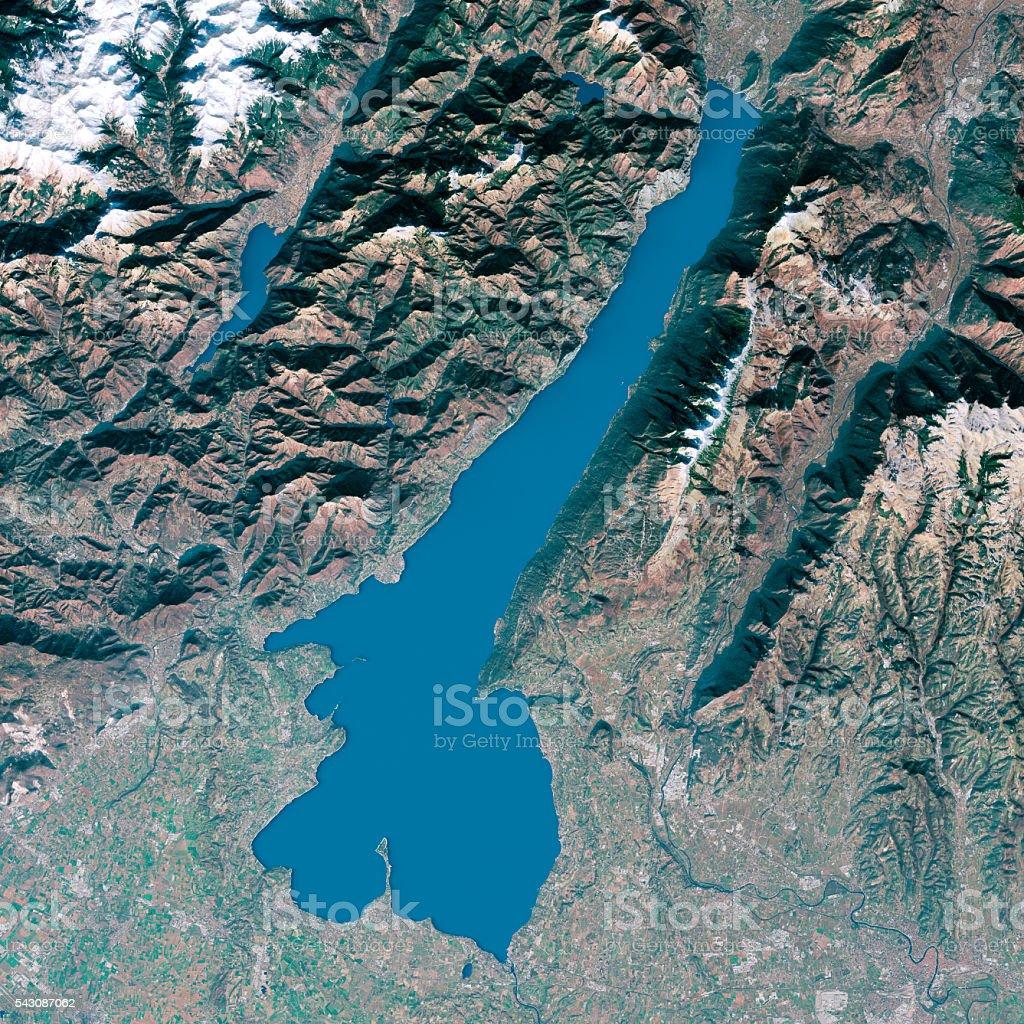 Cartina Fisica Lago Di Garda.Lago Di Garda Modelli 3d Con Mappa Topografica Vista Dallalto Colori Naturali Fotografie Stock E Altre Immagini Di Acqua Istock