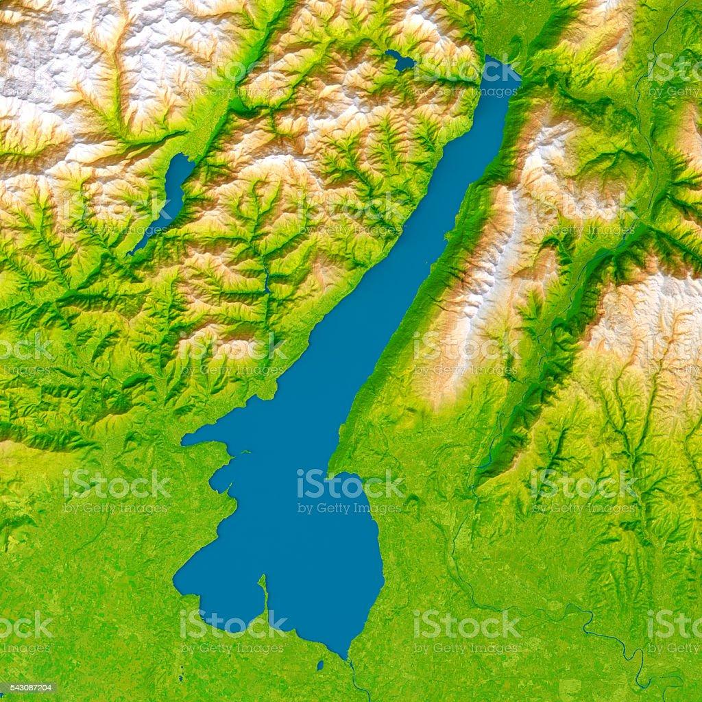 Karte Italien Gardasee.Am Gardasee 3dmodell Topographische Karte Relief Farbe Aufsicht