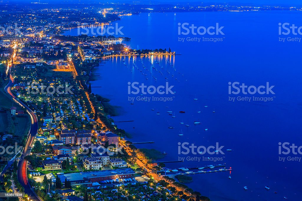 Lake Garda From Above stock photo
