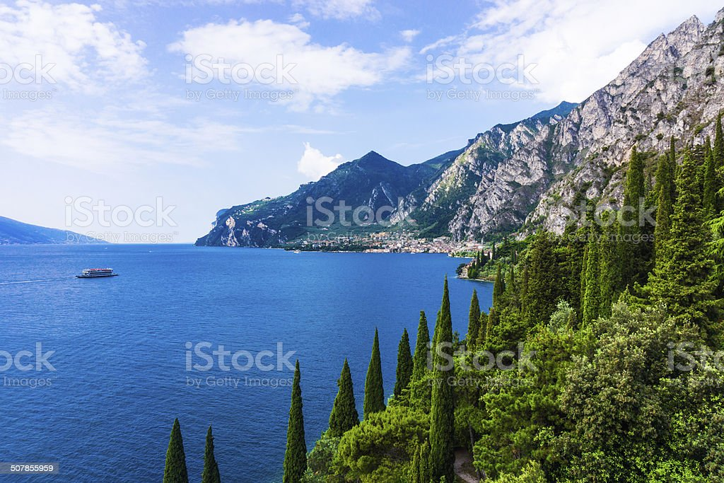 Lake Garda in Italy stock photo