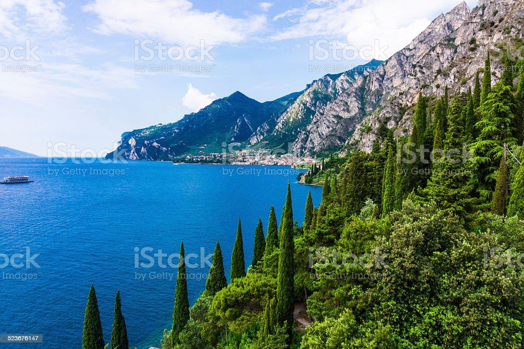 Lake Garda in Italy stock photo