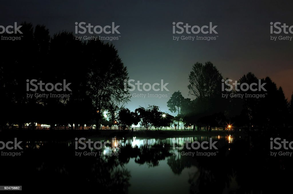 Lake garden royalty-free stock photo