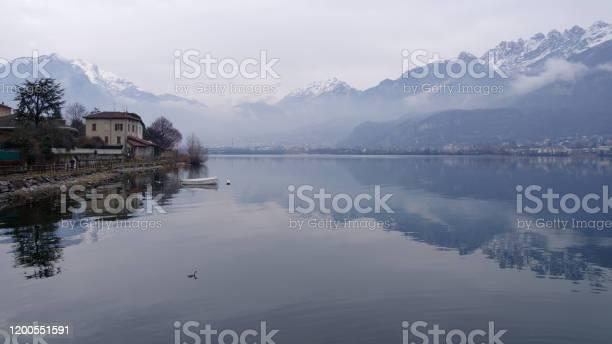 Lake Garlate from Pescate - Стоковые фото Без людей роялти-фри