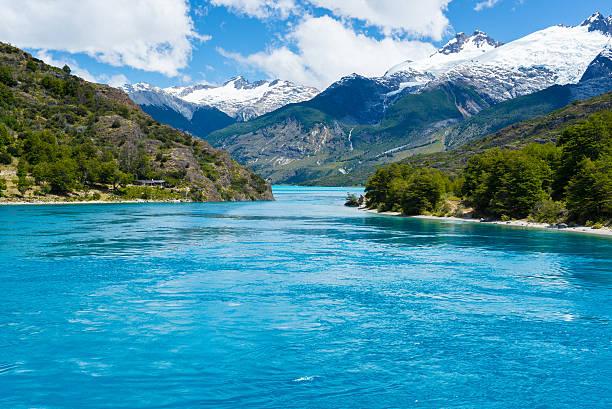 Lake General Carrera (Chile) stock photo
