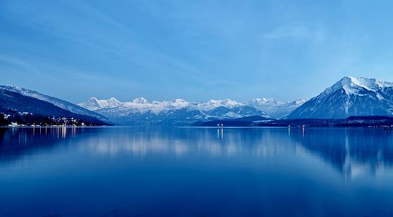 Lake Geneva at Night, Switzerland