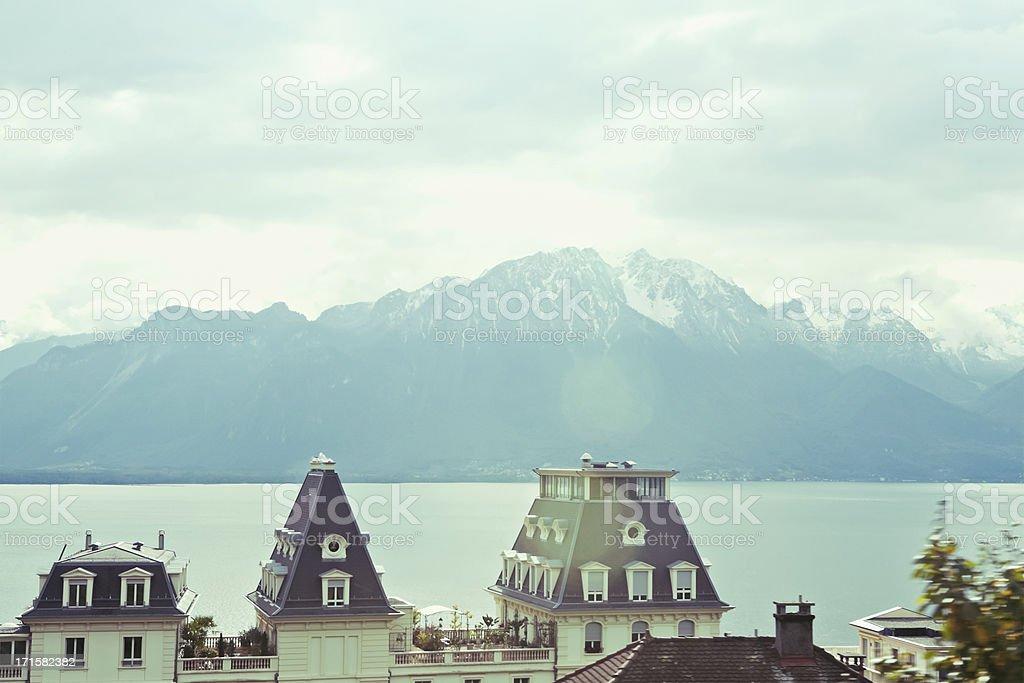 Lake Geneva, Lausanne, Switzerland royalty-free stock photo