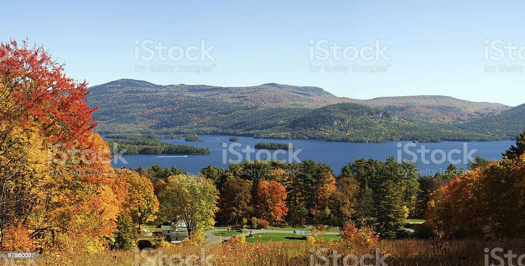 Lake George Autumn stock photo