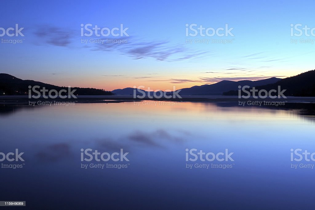 Lake George Dawn stock photo