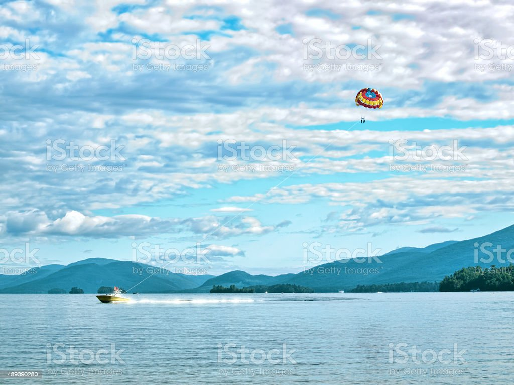 Lake George, New York stock photo