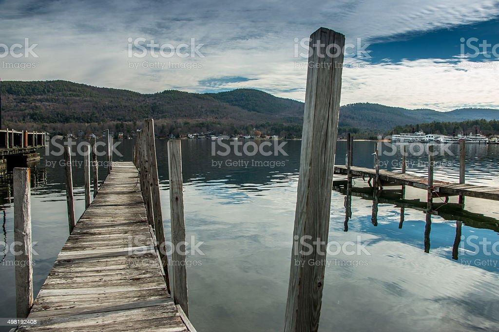 Lake George stock photo
