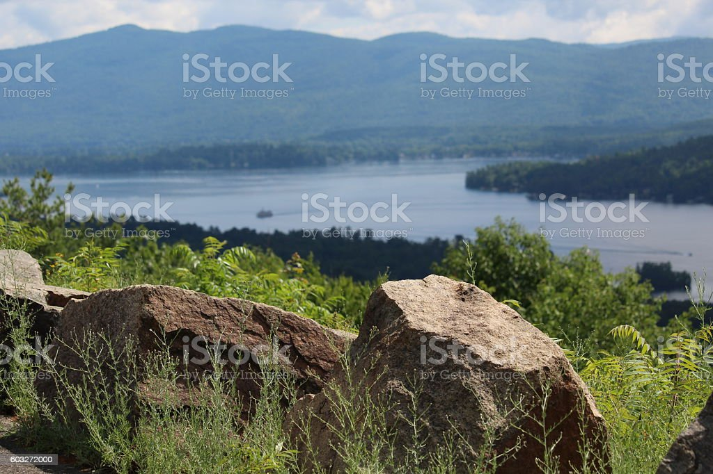 Lake George stock photo
