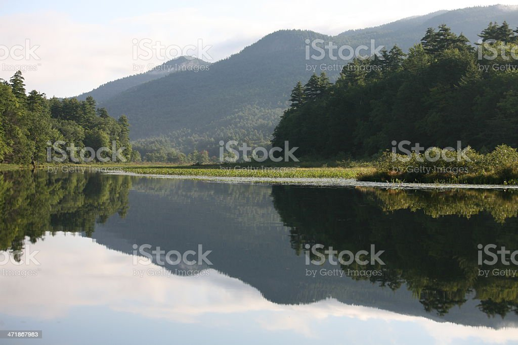 Lake George Reflection stock photo
