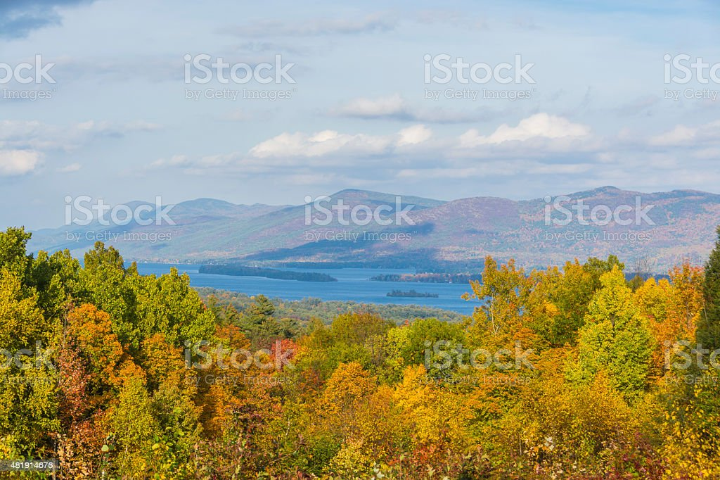 Lake George Scenic View stock photo