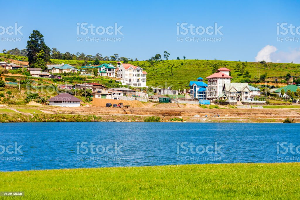 Lake Gregory, Nuwara Eliya stock photo