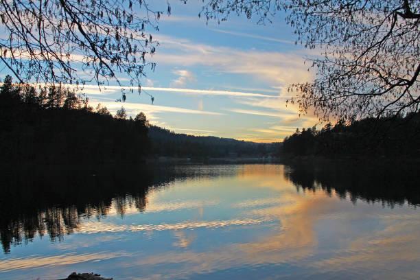 Lake Gregory Sunset stock photo