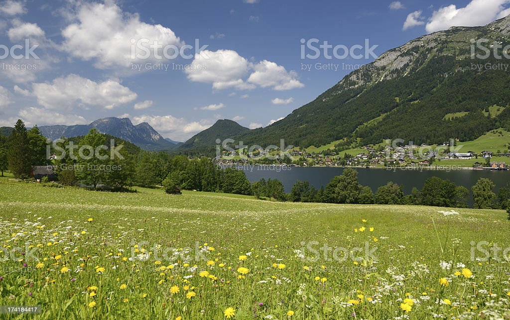 Lake Grundlsee, Ausseerland, Salzkammergut, Austria royalty-free stock photo