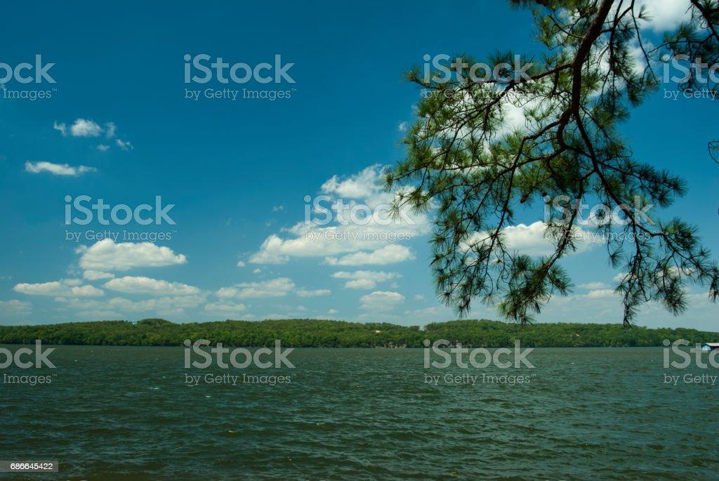 Lake Guntersville in Alabama Стоковые фото Стоковая фотография