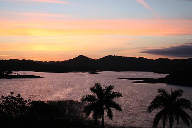 Lake Hanabanilla, Cuba stock photo