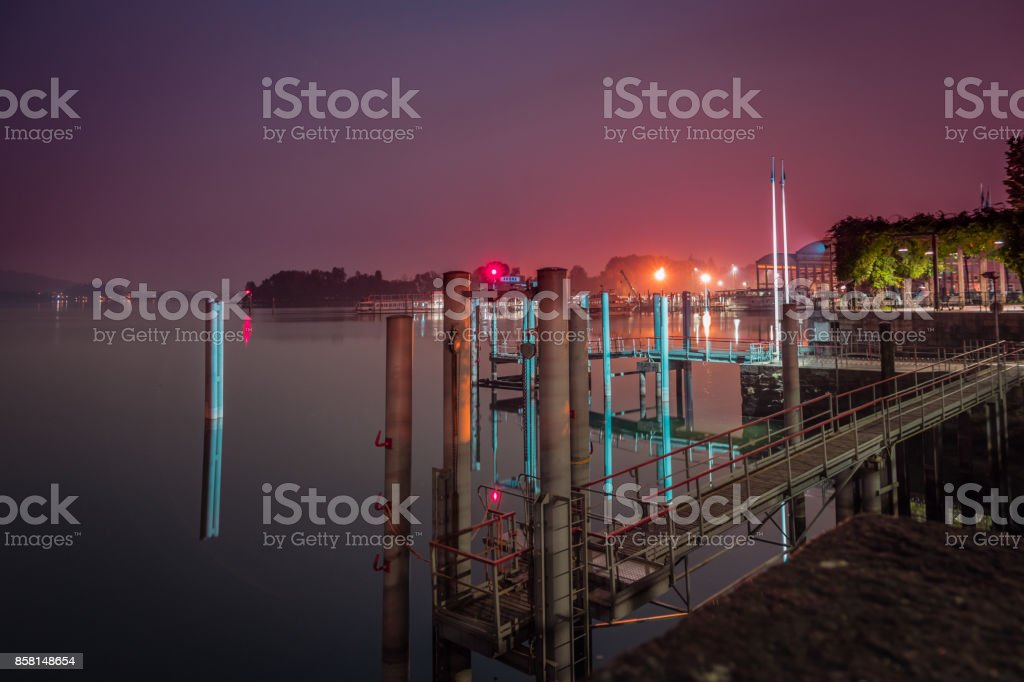 Lake Harbor stock photo