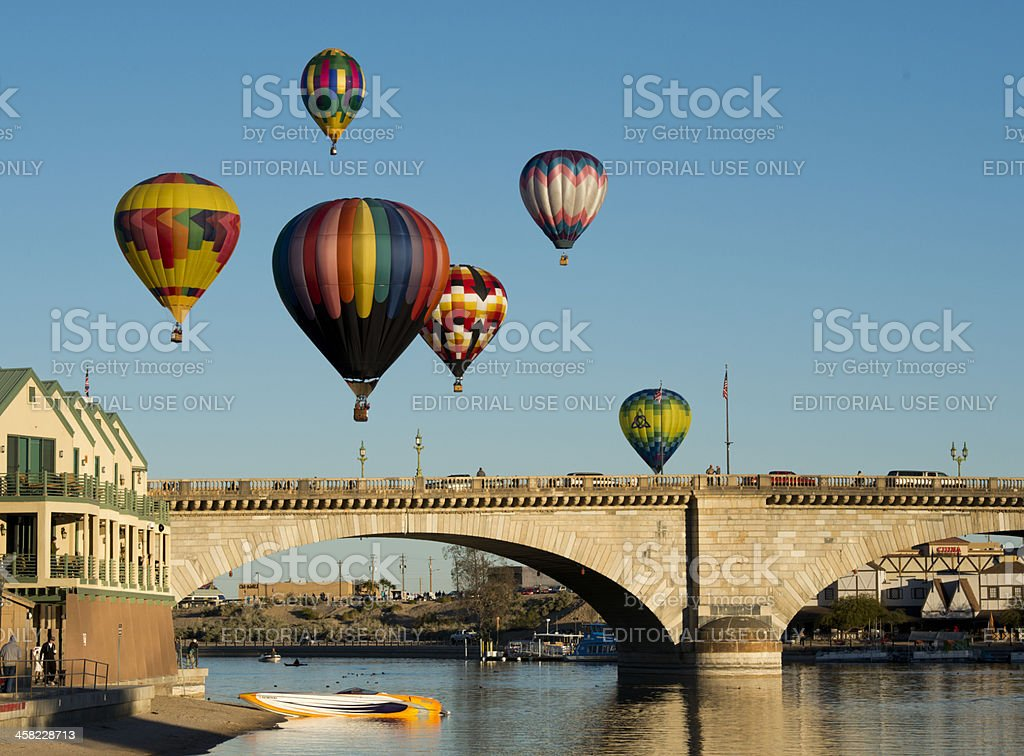 Lake Havasu Balloon Festival royalty-free stock photo