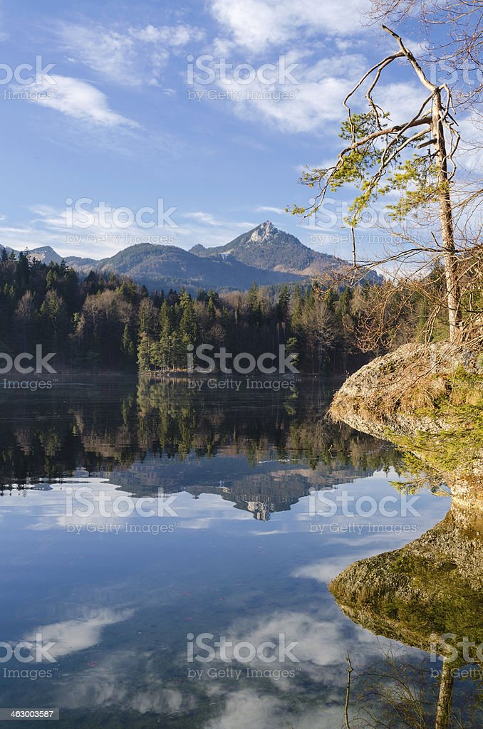 Lake Hechtsee near Kufstein stock photo